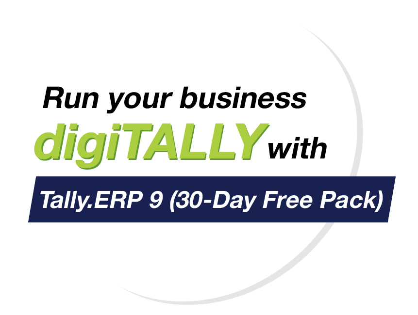 Given the current situation with the pandemic, we understand that your business may be impacted. To ensure that at least managing your business data is simple and convenient for you, we bring to you Tally.ERP 9 (30-Day Free Pack) which you can use for a period of 30 days for free