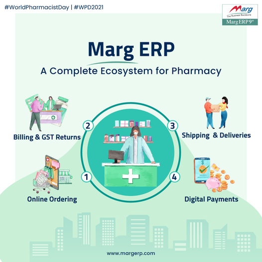 From Order To Digital Payments, Marg ERP is a complete solution for all needs of a Pharmacy/ Chemist store.
